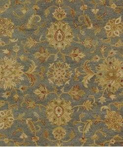 Safavieh Handmade Antiquities Jewel Grey Blue/ Beige Wool Rug (7'6 x 9'6) - Thumbnail 1