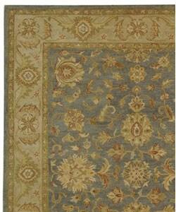 Safavieh Handmade Antiquities Jewel Grey Blue/ Beige Wool Rug (7'6 x 9'6) - Thumbnail 2