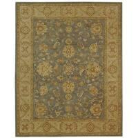 "Safavieh Handmade Antiquities Jewel Grey Blue/ Beige Wool Rug - 7'-6"" x 9'-6"""
