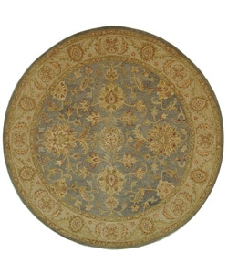 Safavieh Handmade Antiquities Jewel Grey Blue/ Beige Wool Rug (8' Round)