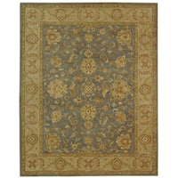Safavieh Handmade Antiquities Jewel Grey Blue/ Beige Wool Rug (8'3 x 11')