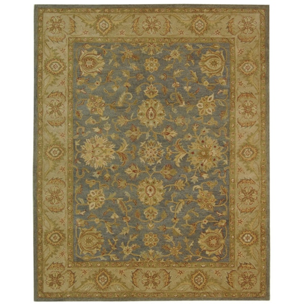 Safavieh Handmade Antiquities Jewel Grey Blue/ Beige Wool Rug - 8'3 x 11'