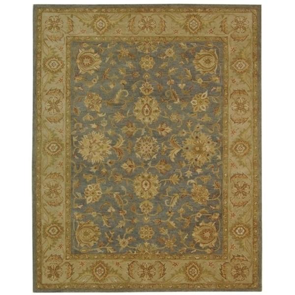 "Safavieh Handmade Antiquities Jewel Grey Blue/ Beige Wool Rug - 9'6"" x 13'6"""