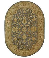 Safavieh Handmade Antiquities Jewel Grey Blue/ Beige Wool Rug (4'6 x 6'6 Oval) - 4'6' x 6'6 oval