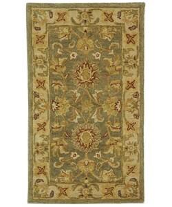 Safavieh Handmade Antiquities Gem Green Wool Runner (2'3 x 4')
