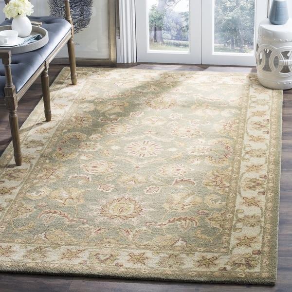 Safavieh Handmade Antiquities Gem Green Wool Rug (7'6 x 9'6)