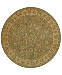 Safavieh Handmade Antiquities Gem Green Wool Rug - 8' x 8' Round