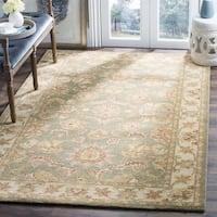 "Safavieh Handmade Antiquities Gem Green Wool Rug - 8'3"" x 11'"