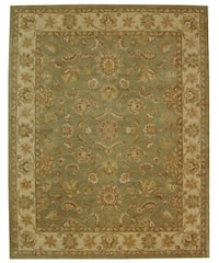 "Safavieh Handmade Antiquities Gem Green Wool Rug - 9'6"" x 13'6"""