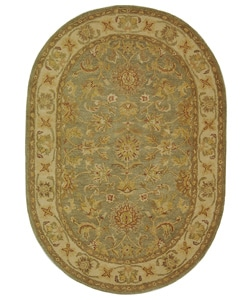 Safavieh Handmade Antiquities Gem Green Wool Rug (4'6 x 6'6)