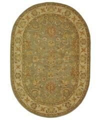 "Safavieh Handmade Antiquities Gem Green Wool Rug - 4'6"" x 6'6"" oval"
