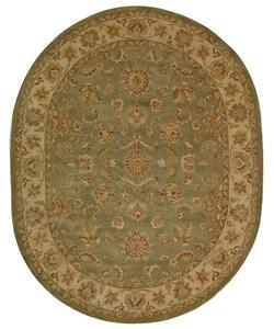 Safavieh Handmade Antiquities Gem Green Wool Rug (7'6 x 9'6 Oval)