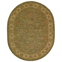 "Safavieh Handmade Antiquities Gem Green Wool Rug - 7'-6"" x 9'-6"" oval"