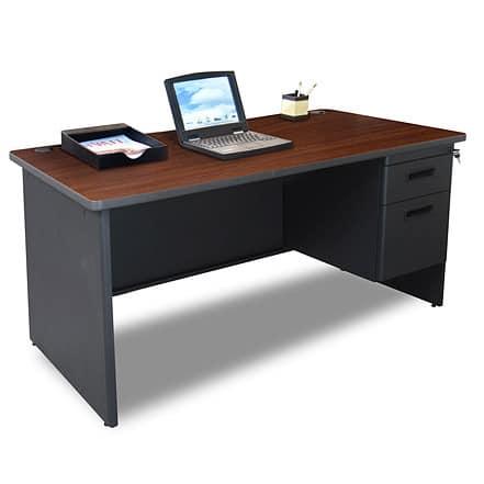 Marvel 60-inch Single Pedestal Steel Desk
