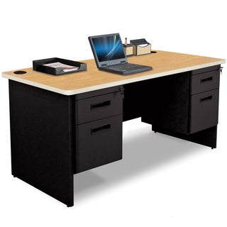 Marvel 60-inch Double Pedestal Steel Desk