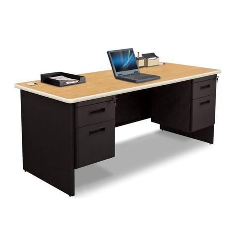 Marvel 72-inch Double Pedestal Steel Desk
