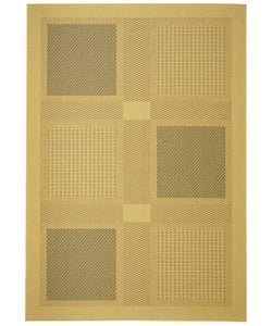 Safavieh Lakeview Natural/ Blue Indoor/ Outdoor Rug (4' x 5'7)