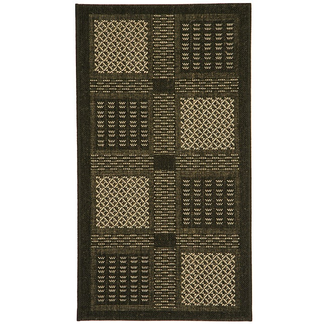 Safavieh Lakeview Black/ Sand Indoor/ Outdoor Rug (2' x 3'7)