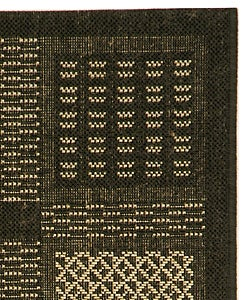 Safavieh Lakeview Black/ Sand Indoor/ Outdoor Rug (2' x 3'7) - Thumbnail 1