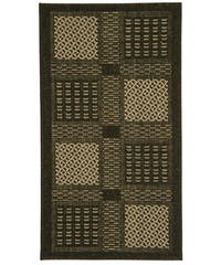 Safavieh Lakeview Black/ Sand Indoor/ Outdoor Rug - 2' x 3'7