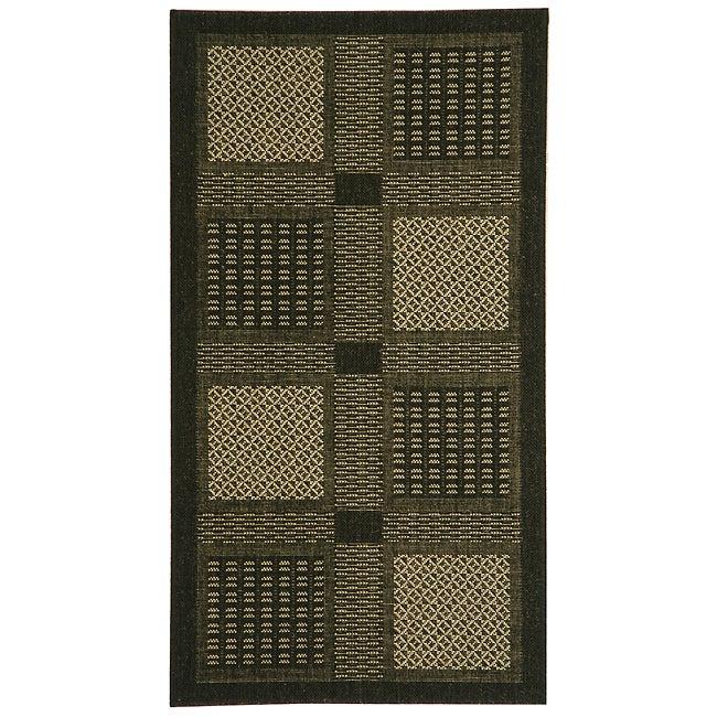 Safavieh Lakeview Black/ Sand Indoor/ Outdoor Rug (2'7 x 5)