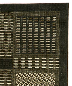 Safavieh Lakeview Black/ Sand Indoor/ Outdoor Rug (2'7 x 5) - Thumbnail 1