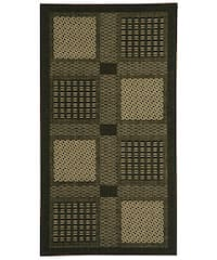 Safavieh Lakeview Black/ Sand Indoor/ Outdoor Rug - 2'7 x 5