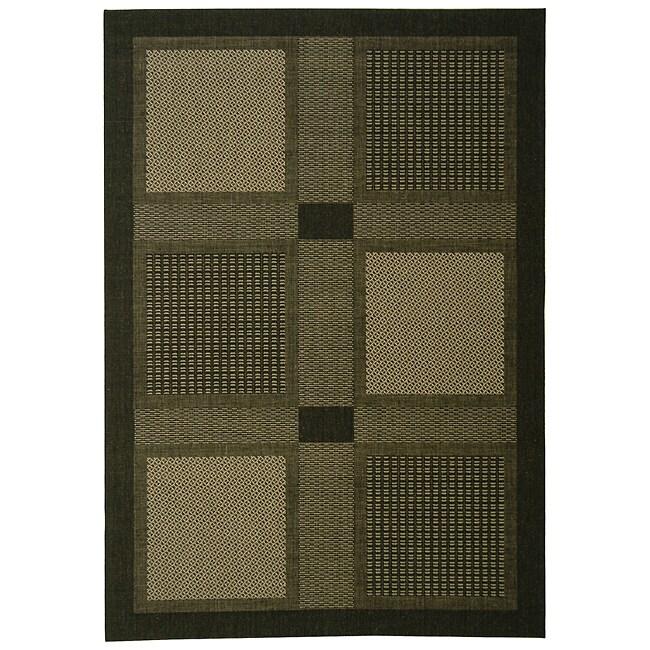 Safavieh Lakeview Black/ Sand Indoor/ Outdoor Rug (4' x 5'7)