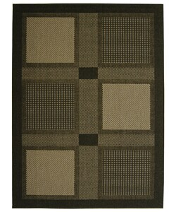 Safavieh Lakeview Black/ Sand Indoor/ Outdoor Rug - 7'10 x 11'