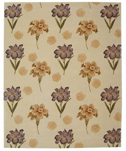 Safavieh Handmade Iris Ivory New Zealand Wool Rug - 8' x 10' - Thumbnail 0