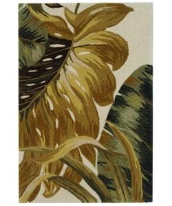 Safavieh Handmade Ferns Ivory/ Sage New Zealand Wool Rug (2' x 3')