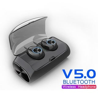 Bluetooth 5.0 Earbuds Automatic Pairing Huge Compatibility HIFI Stereo Super Bass with 2600mAh Power Bank Dual Mic