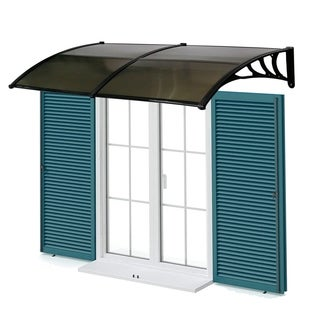 "Kinbor 80""x 40"" Window Awning Front Door Canopy Polycarbonate Cover Sun Shelter"