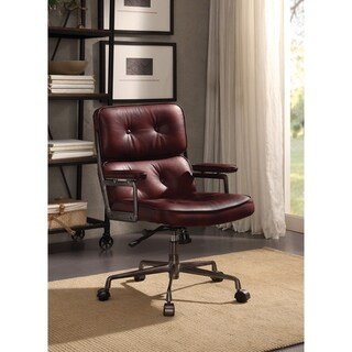 ACME Larisa Executive Office Chair, Vintage Merlot Top Grain Leather