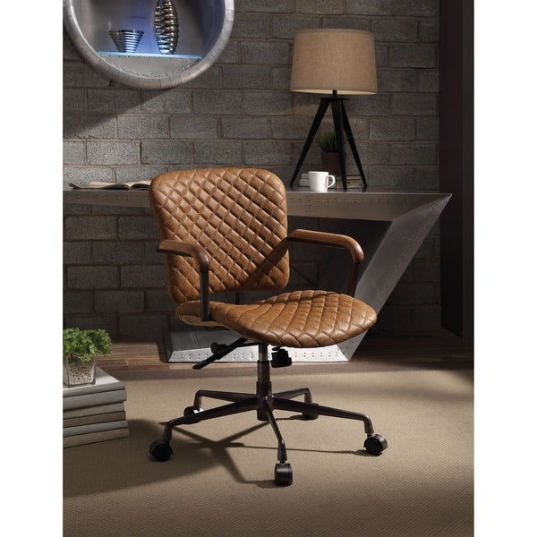 ACME Josi Executive Office Chair, Coffee Top Grain Leather