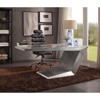 ACME Calan Executive Office Chair, Vintage Black Top Grain Leather