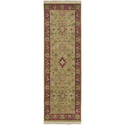 Hand-knotted Babylon Collection Wool Rug (2'6 x 8') with Free Rug Pad
