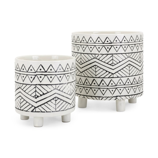 Shop Ceramic Planters With Tiny Legs And Bohemian Details