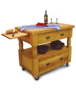Island Europa Kitchen Island with Drawers - Thumbnail 1