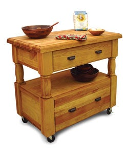 Island Europa Kitchen Island with Drawers - Thumbnail 2