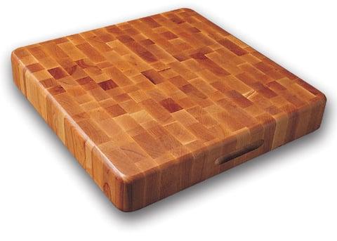 Slab End Grain Cutting Board w/ Finger Grooves