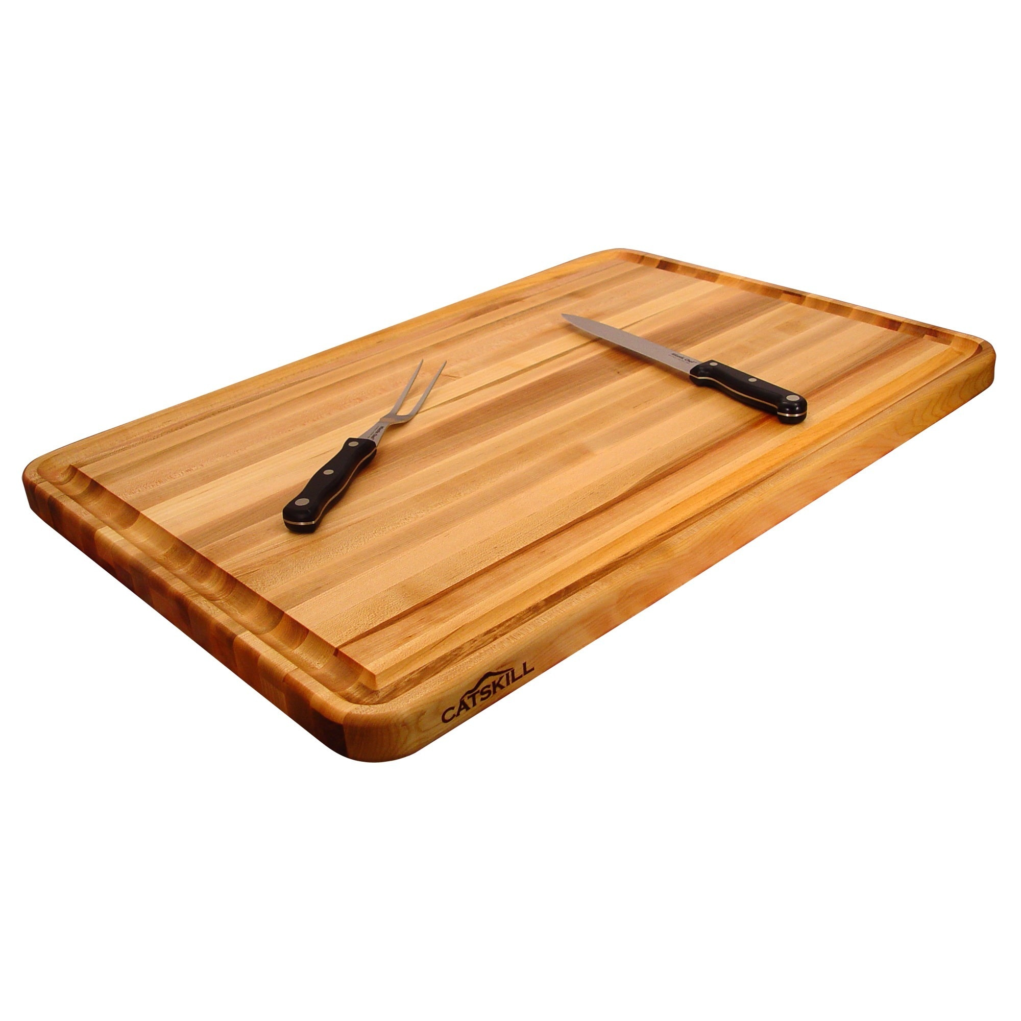 Professional Style Large Reversible Cutting Board w/ Juic...
