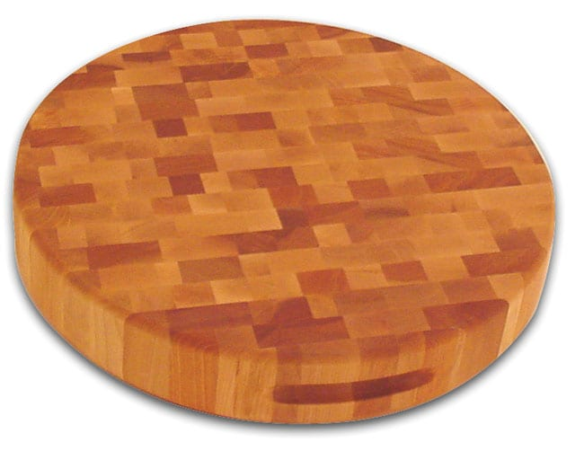 17-inch Round Slab-reversible Cutting Board