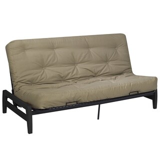 Serta Paris Futon Frame and Serta Chestnut Cotton and CertiPUR Foam Futon Mattress