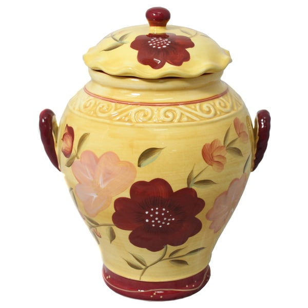 Floral Garden Cookie Jar