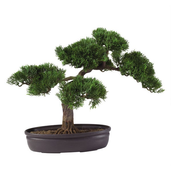 shop artificial bonsai tree 16 in free shipping today. Black Bedroom Furniture Sets. Home Design Ideas