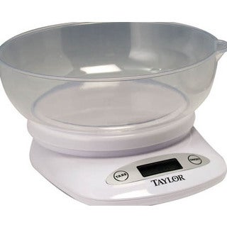 TAYLOR 3804 4.4-lb Digital Kitchen Scale with Bowl