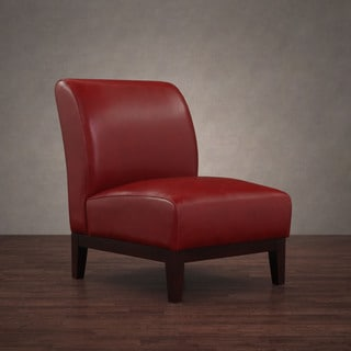 Cole Burnt Red Leather Chair