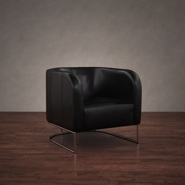 Axis Black Leather Lounge Chair