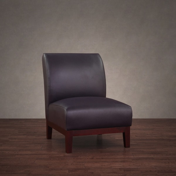 Shop Cole Eggplant Leather Chair Free Shipping Today